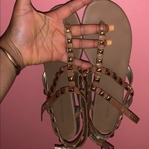 Brown and Gold Sandals (BCBG)